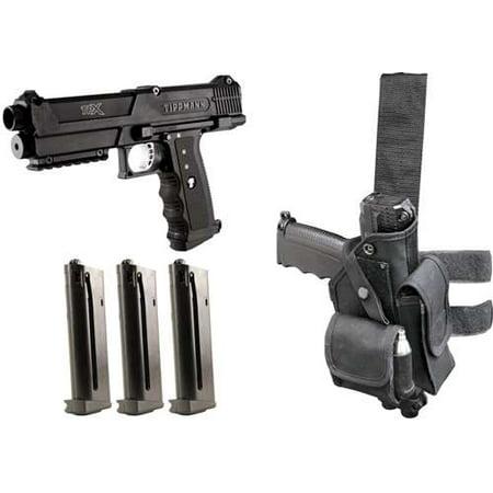 Tippmann TPX TiPX Deluxe Paintball Gun Pistol Kit - Black ()