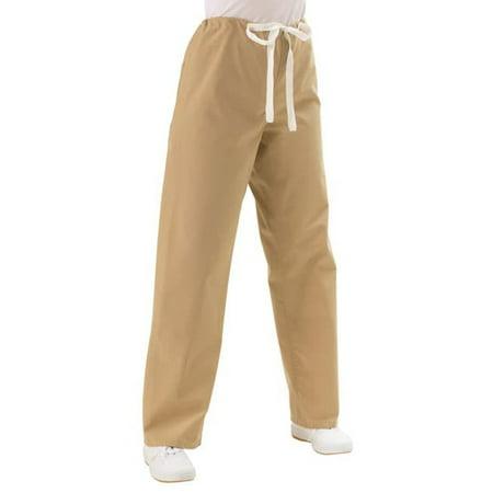 Medline  Khaki Unisex Drawstring Scrub Pants