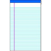 School Smart Standard Legal Pad, 15-Pound Sulphite, 50 Sheets, White, Pack of 12, Multiple Sizes