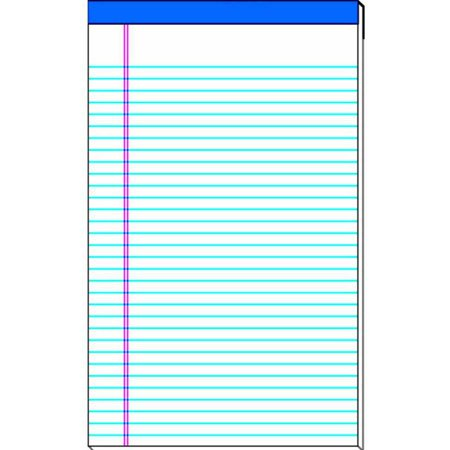 School Smart Standard Legal Pad, 15-Pound Sulphite, 50 Sheets, White, Pack of 12, Multiple Sizes 50 Sheet White Pad