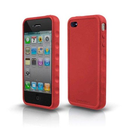 Marware Sport Grip For Iphone - Marware 602956007852 Sportgrip for iPhone 4 (Red/Silicone)
