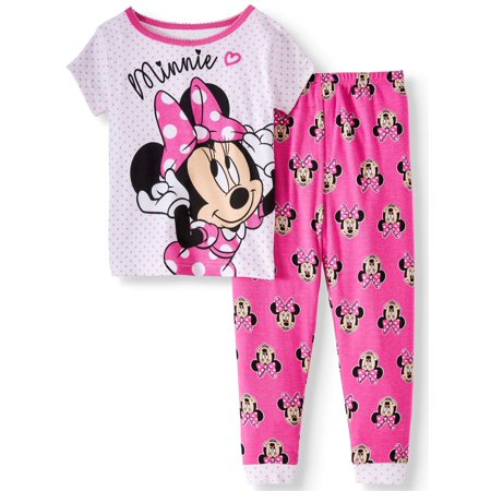 Minnie Mouse Cotton tight fit pajamas, 2pc set (toddler girls) - Christmas Pajamas For Toddler Girls
