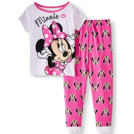 Minnie Mouse Cotton tight fit pajamas, 2pc set (toddler girls)](Girls Button Up Pajamas)
