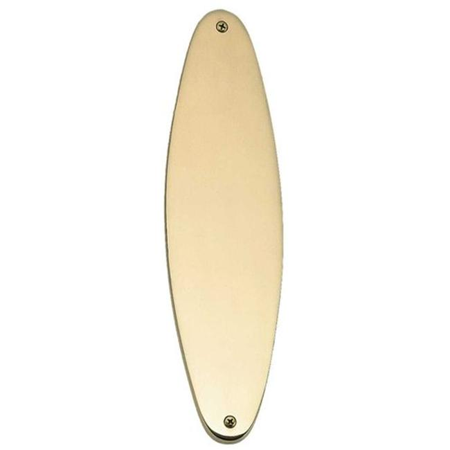 BRASS Accents A07-P8390-605 Oval Traditional Push Plate 2-15/16'' X 11-1/8'' Polished Brass