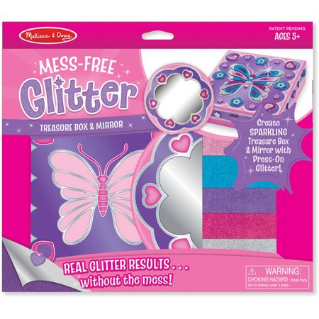 Melissa & Doug Mess-Free Glitter Treasure Box and Mirror Craft Kit