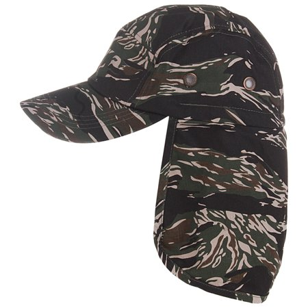 f36f1226432 Enimay Mens Womens Fishing Caps With Ear and Neck Flap Cover Skinny Green  Camo One Size - Walmart.com