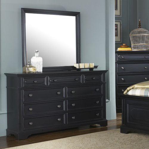 darby home co linda rectangular dresser mirror. Black Bedroom Furniture Sets. Home Design Ideas
