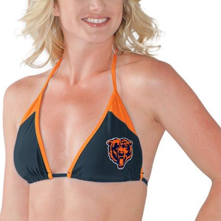 release date: 98d0a 05be0 Chicago Bears G-III 4Her by Carl Banks Women s Outfielder Triangle String  Bikini Top - Navy Orange - Walmart.com