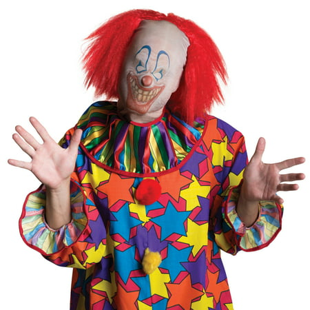 Scary Clown Mask With Wig Pennywise It Spooky Creepy Latex Costume Accessory](Scary Latex Mask)