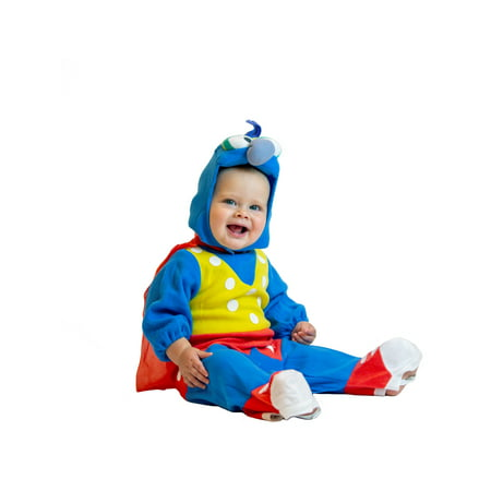 The Muppets Studios Gonzo Halloween Costume for Kids ? 0-6 Month Child - 0-6 Months - Blue