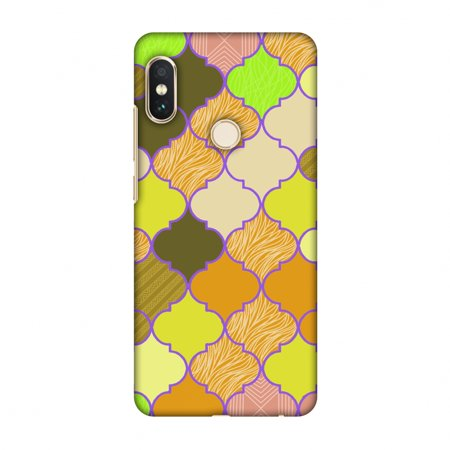 Xiaomi Redmi Note 5 Pro Case - Stained glass- Chocolate orange, Hard Plastic Back Cover, Slim Profile Cute Printed Designer Snap on Case with Screen Cleaning Kit