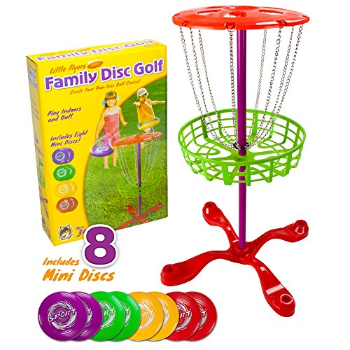K-Roo Sports Little Flyers Family Disc Golf with 8 Mini Discs