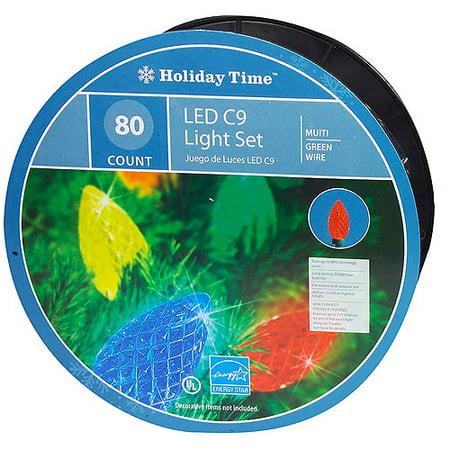 holiday time 80 count led c9 christmas lights multi color - Ge C9 Christmas Lights