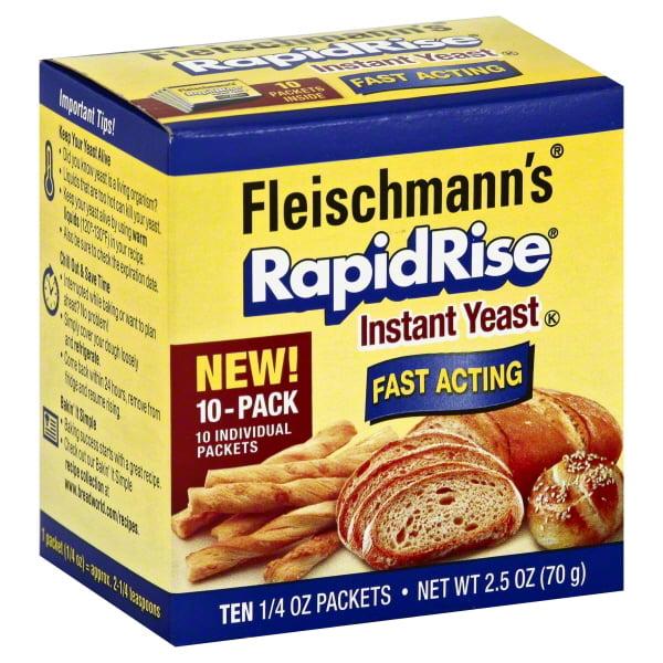 Fleischmanns Rapid Rise Yeast 2 5 Oz Walmart Com Walmart Com