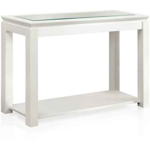 Furniture of America Lalia Contemporary Glass Sofa Table, Multiple Colors Available by Furniture of America