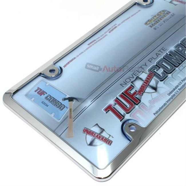 Cruiser Frames License Plate Frame - Plastic Chrome With Blue Shield