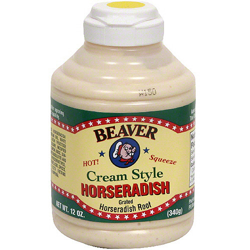 Beaver Brand Hot Cream Horseradish, 12 oz (Pack of 6)