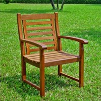 Pemberly Row Acacia Patio Dining Chair (Set of 2)