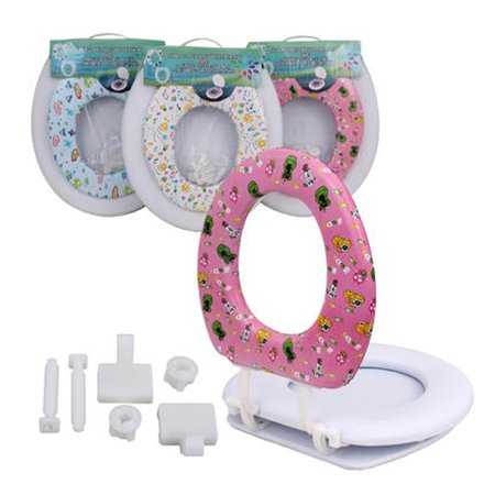 Groovy 2 In 1 Toilet Seat With Soft Cushion Adults Children Elongated Shape Universal Evergreenethics Interior Chair Design Evergreenethicsorg