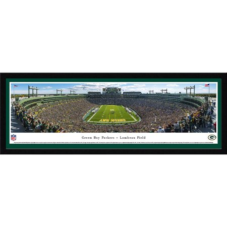 Green Bay Packers - End Zone at Lambeau Field - Blakeway Panoramas NFL Print with Select Frame and Single -
