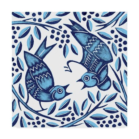 Trademark Fine Art 'Bluebirds, 2010' Canvas Art by Nat Morley
