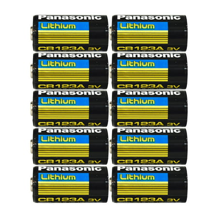 Panasonic CR123A Lithium 3V Photo Lithium Batteries, 0.67