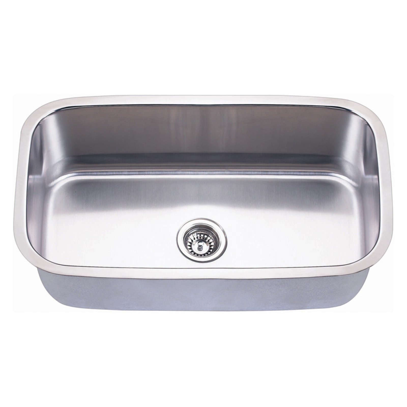 Empire 31 1/2 Inch Undermount Single Bowl 16 Gauge Stainless Steel Kitchen  Sink with Soundproofing - Walmart.com