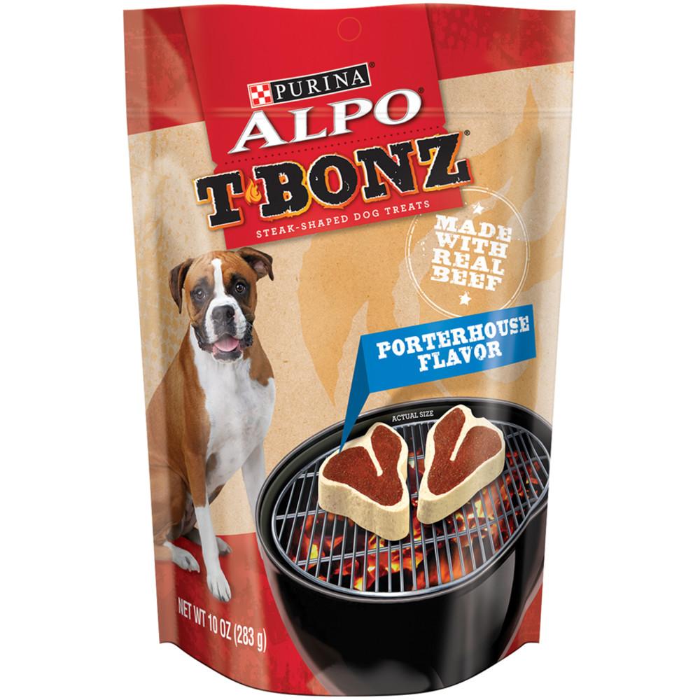 Purina ALPO T-Bonz Porterhouse Flavor Steak-Shaped Dog Treats 10 oz. Bag by Nestle Purina