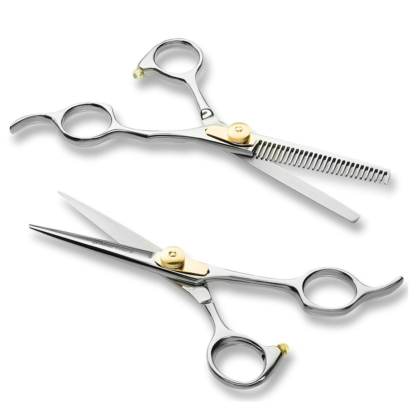professional haircutting scissors shearguru professional barber scissor hair cutting set 6 5104