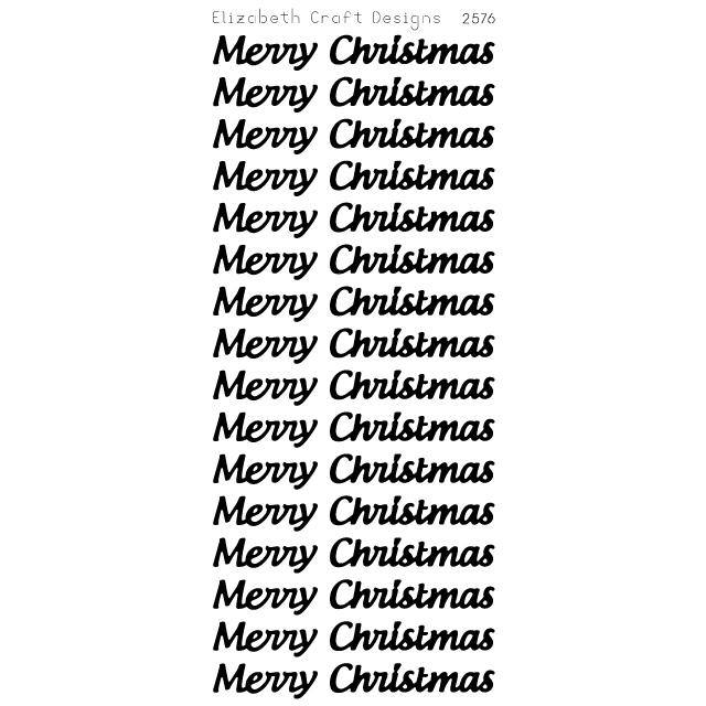 Merry Christmas Large Peel-Off Stickers-Gold