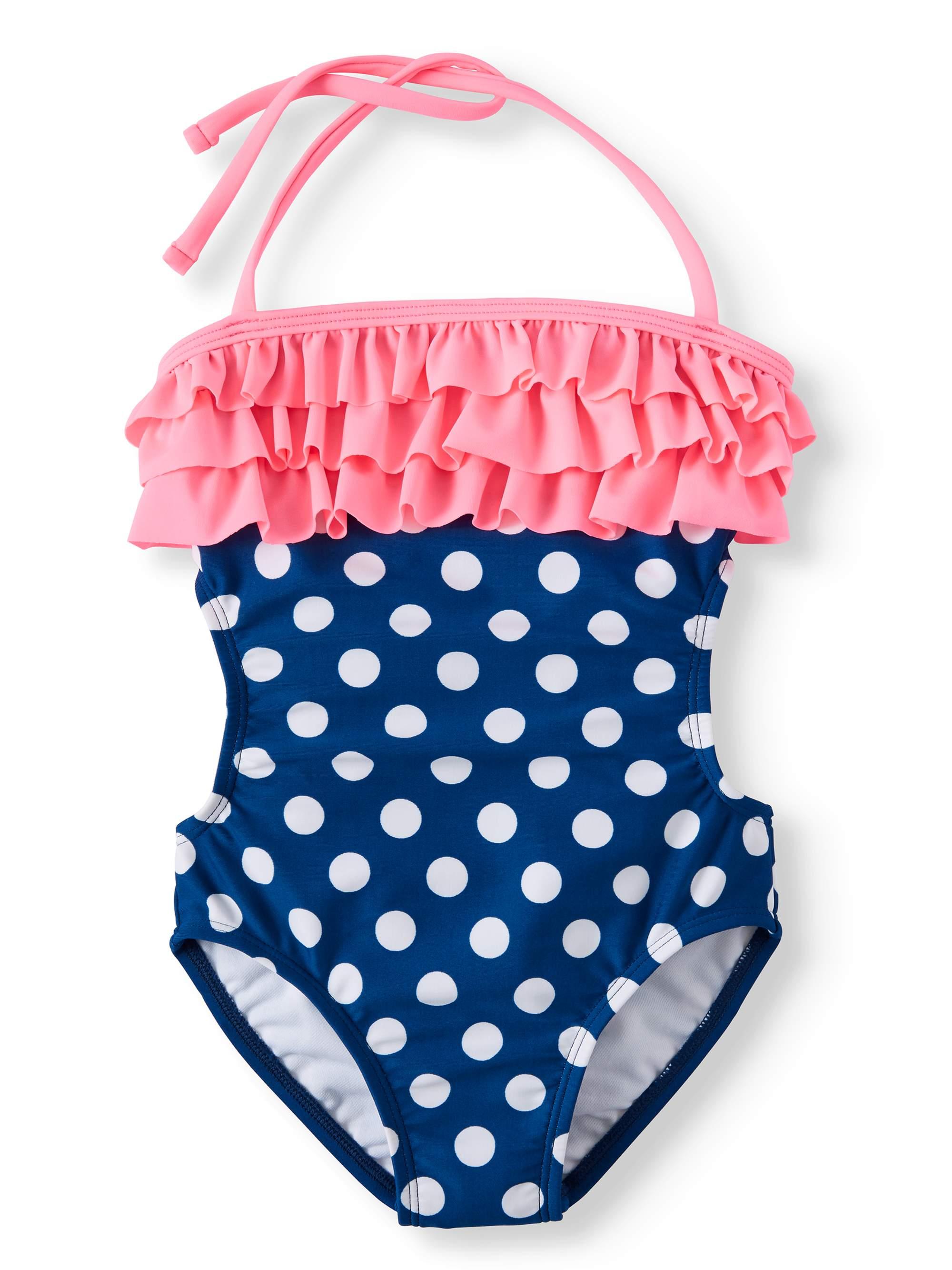 Polka Dot Ruffled One-Piece Swimsuit (Little Girls & Big Girls)