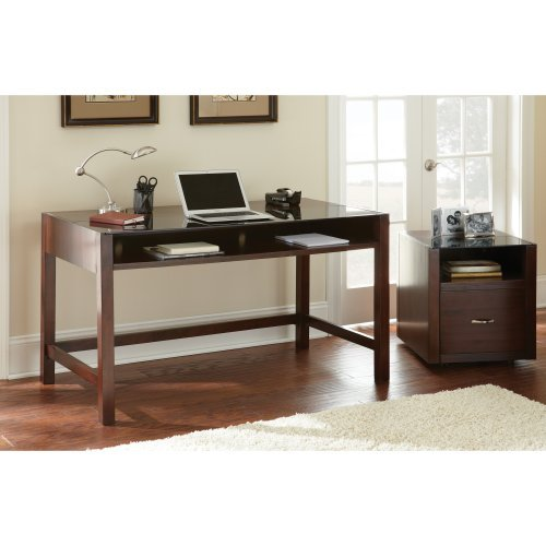 Steve Silver Lamar Desk with Optional File Cabinet - Espresso