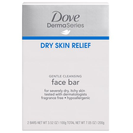 Dove Fragrance-Free Facial Cleansing Bar for Dry Skin 3.52 oz, 2