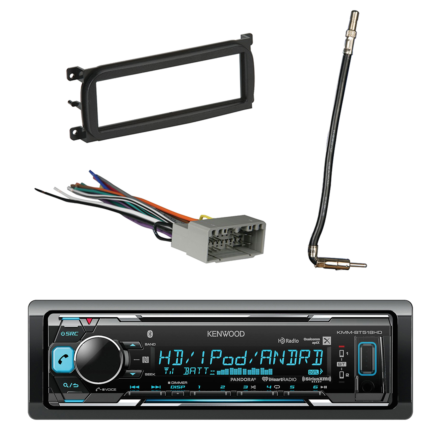 Kenwood In-Dash Stereo Receiver, Bluetooth, HD Radio, Pan...
