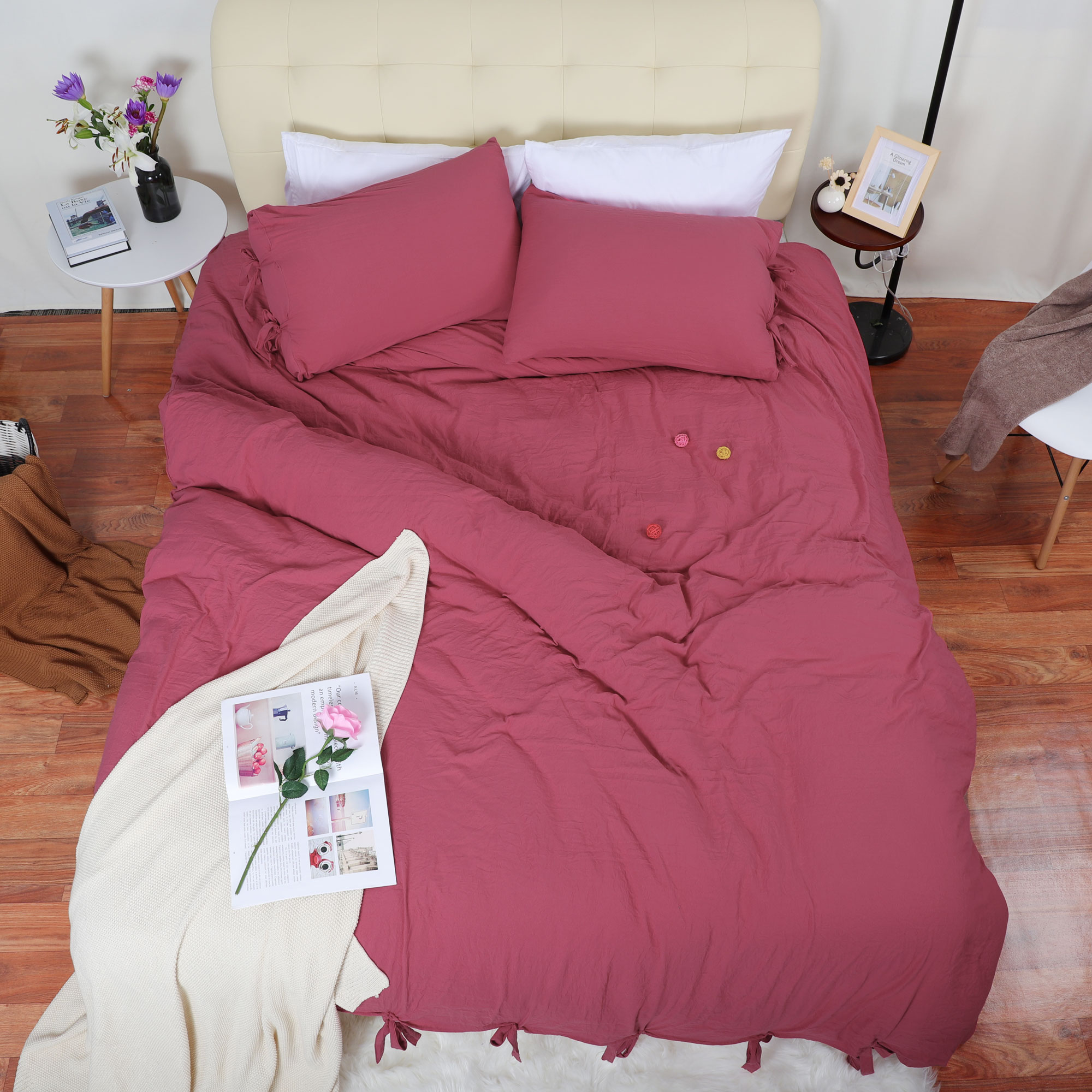 Duvet Cover And Shams Egyptian Comfort 1800 Count Bedding Set Red Queen - image 4 of 8