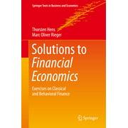 Solutions to Financial Economics - eBook