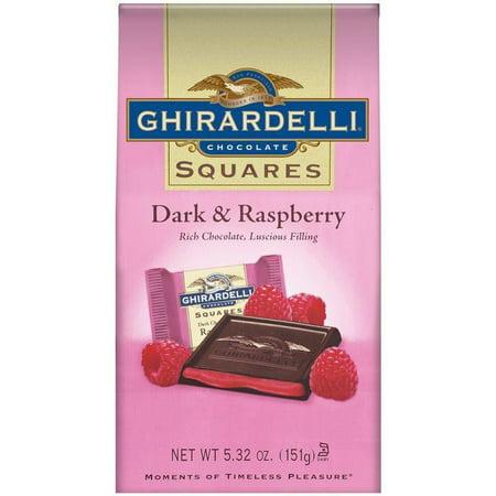 - Ghirardelli Chocolate Squares Dark & Raspberry Chocolate 5.32 Oz Stand Up Bag (Pack of 6)