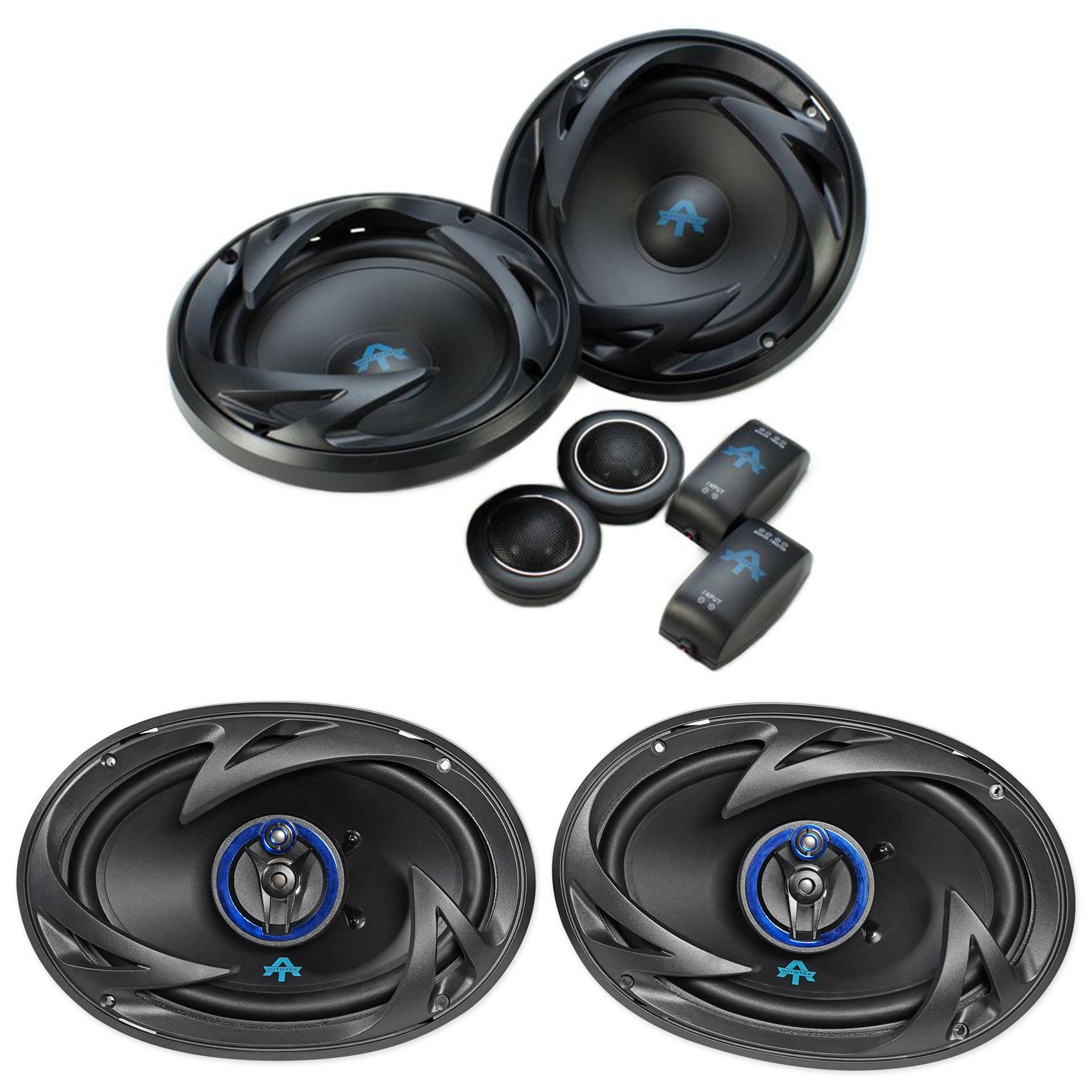 "Pair AUTOTEK ATS65C 6.5"" 600w Component Speakers+Pair ATS693 6x9"" 800w Speakers"