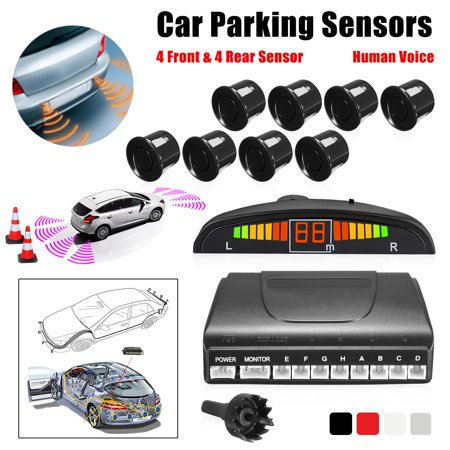 LCD Car Parking Sensor Rear Reverse Backup Radar Alarm Kit System w/ 8 Sensors - image 1 de 10