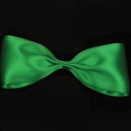 Emerald Green Double Face Satin Craft Ribbon 2