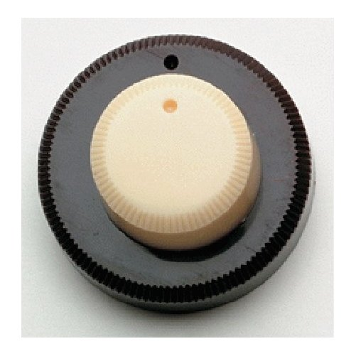 Danelectro Concentric Stack Knob Cream Top Brown Bottom Allparts PK-3161-000 by AllParts