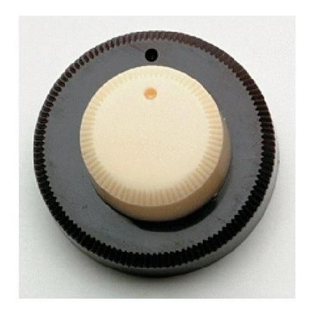 (Danelectro Concentric Stack Knob Cream Top/Brown Bottom Allparts PK-3161-000)