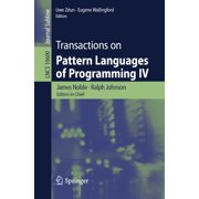 Transactions on Pattern Languages of Programming IV - eBook