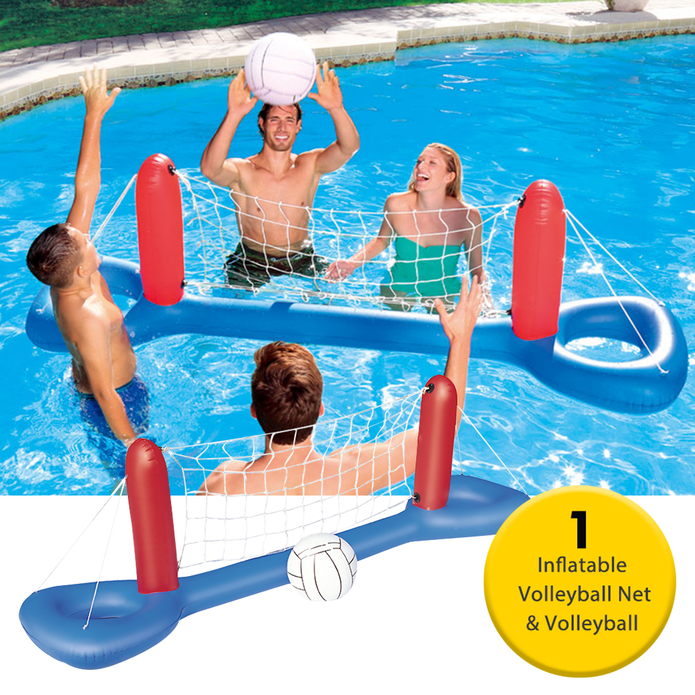Inflatable Volleyball Net 96 1 X 25 2 Inch Volleyball Inflatable Pool Float Set For Kids Adults Swimming Game Toy Summer Floats Walmart Canada