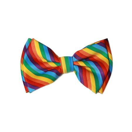 Pre-tied Bowtie - Rainbow Rainbow Jersey Tie