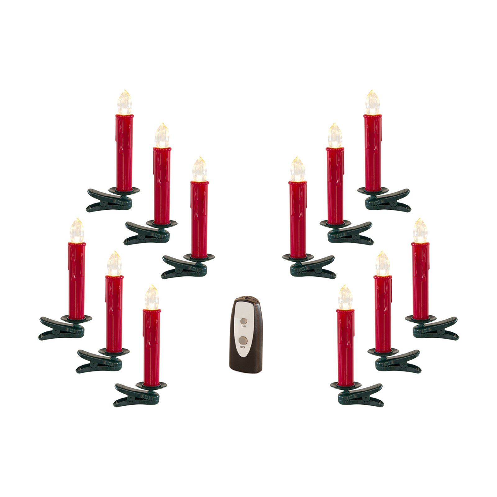 Melrose LED Clip On Taper Candle - Set of 24