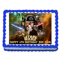 1/4 Sheet Star Wars Group Edible Frosting Cake Topper*