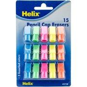 Pencil Cap Erasers-15/Pkg