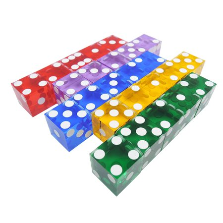 5 Pieces Top Grade 19mm Casino Dice With The Edges And Serial Numbers Translucent Clear D6 Dice Real Dice - image 2 de 7