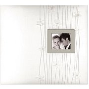 "K&Company Forever Yours Postbound Fabric Cover Album, 12"" x 12"""